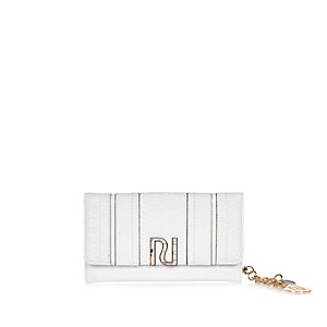White branded fold out purse