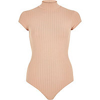 Light pink ribbed bodysuit