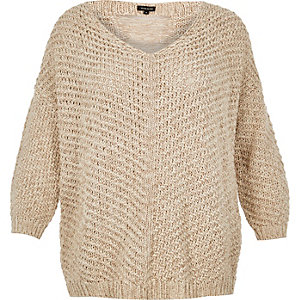 RI Plus slouchy knitted sweater