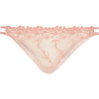 Light pink lace brief