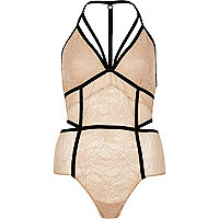 Pink lace panel body