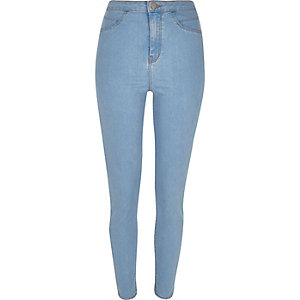 Light wash high waisted Molly jeggings