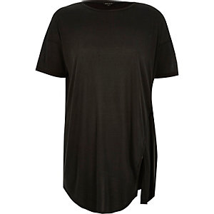 Dark grey tie side t-shirt
