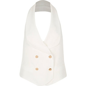 White open back vest
