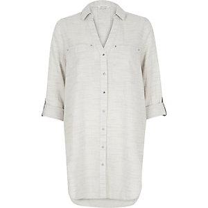 Light grey oversized shirt