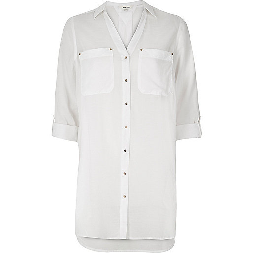 White longline shirt