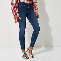 Mid wash blue sateen Molly jeggings