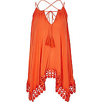 Orange trapeze cami top