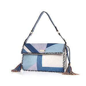 Blue patchwork bag