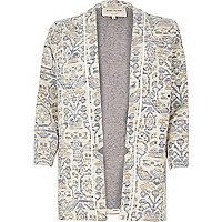 Blue pattern jersey jacket