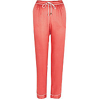 Pink jacquard pajama pants