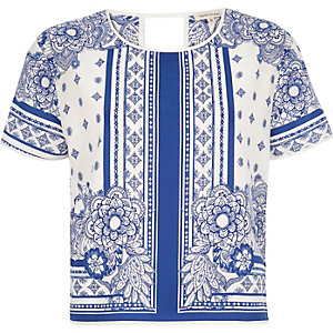 Blue print t-shirt