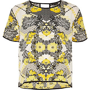 Yellow print top