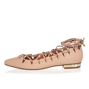 Light pink cut out shoes
