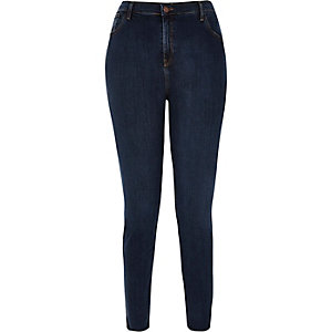 RI Plus dark blue high rise Lori skinny jeans