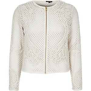 White lattice mesh trophy jacket