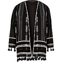Black tassel kimono