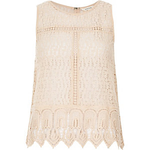 Light pink lace tank top
