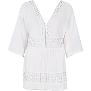 White lace festival cover-up
