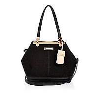 Black bucket handbag