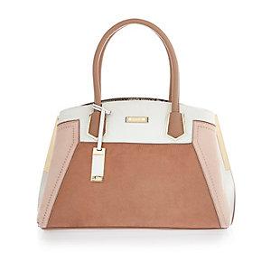 Light brown medium tote handbag