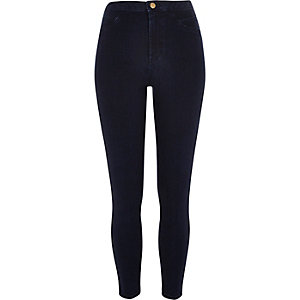 Dark wash sateen high waisted Molly jeggings