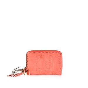 Coral RI embossed purse