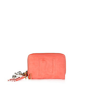 Coral RI embossed purse