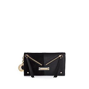 Black half-and-half purse