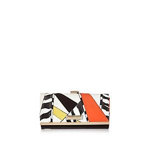 Orange patchwork purse