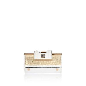 Gold weave purse