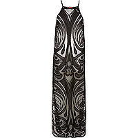 Black lace cover-up maxi dress