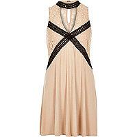 Light pink lace swing tunic