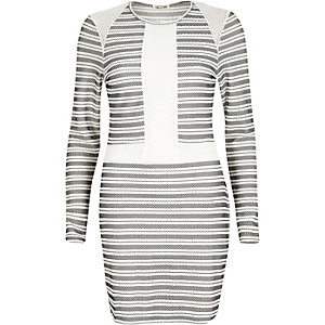 White stripe bodycon dress