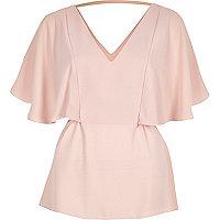 Light pink frill t-shirt