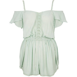 Light green bardot romper