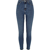 Mid wash blue high rise Molly jeggings