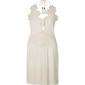 RI Resort lace insert dress