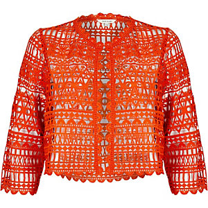 Red lace bolero jacket