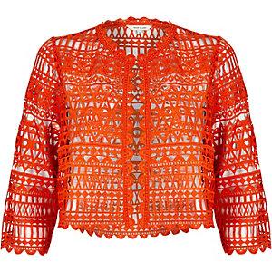 Red lace bolero jacket
