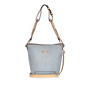 Light blue slouchy bucket handbag