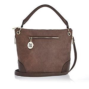 Light brown bucket handbag