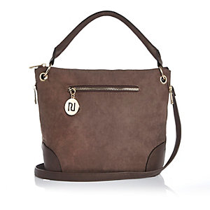 Light brown bucket handbag