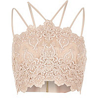 Light pink cornelli bralet