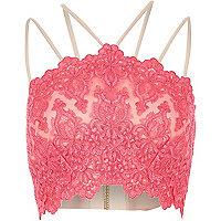 Bright pink cornelli bralet