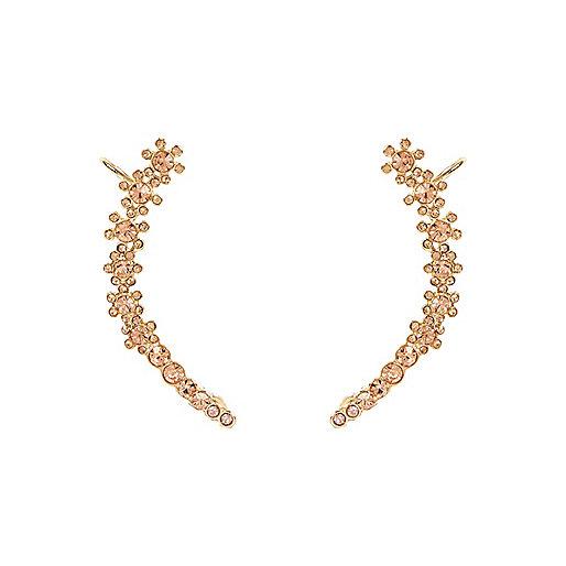 Lots de bijoux d'oreilles dorés motif fleur
