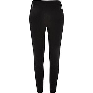 Black zip side skinny pants