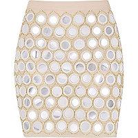 Light pink mirrored skirt