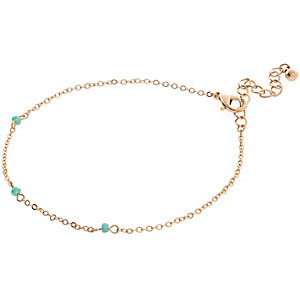 Gold tone blue anklet