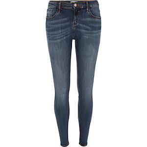 Mid wash blue Amelie superskinny jeans